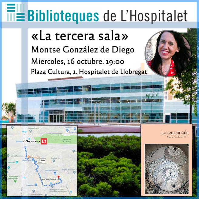 2019-10-04-Palomita Presentación Biblioteca Hospitalet